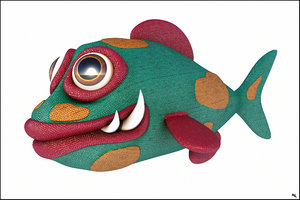 3D cartoon fish