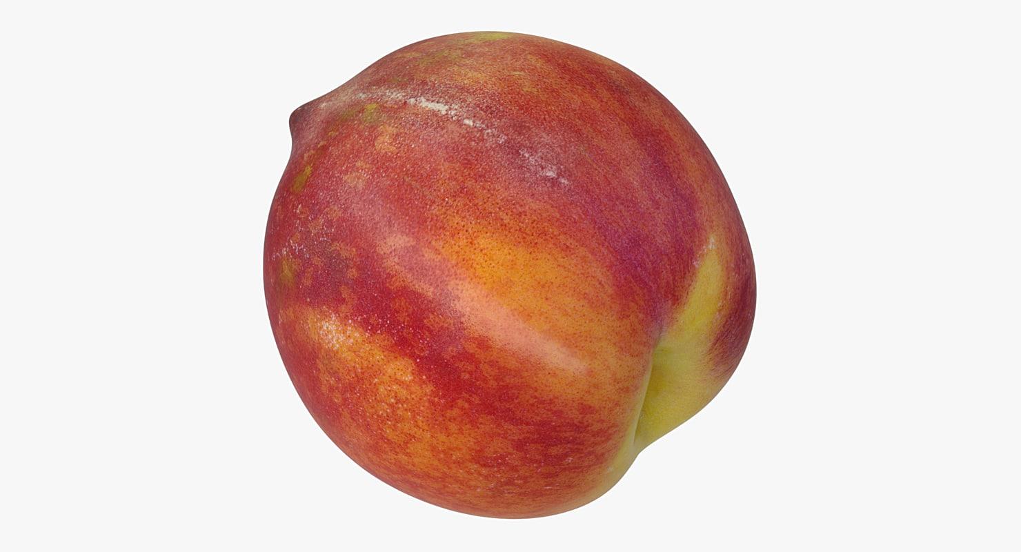 realistic peach 3D model