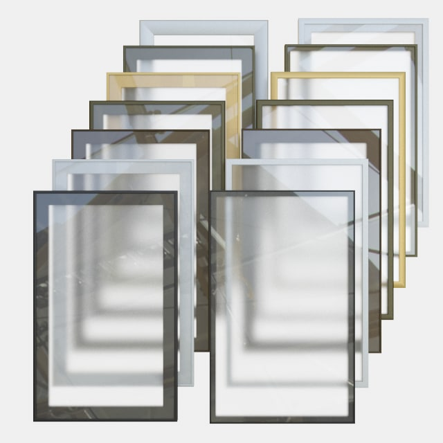 3D furniture facade aluminum profile model
