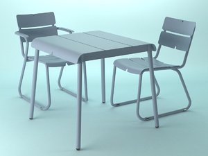 3D corail dining model
