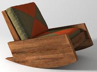 asturias rocking armchair 3D model