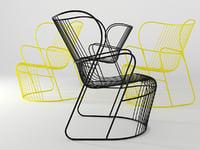 3D model kaskad armchair