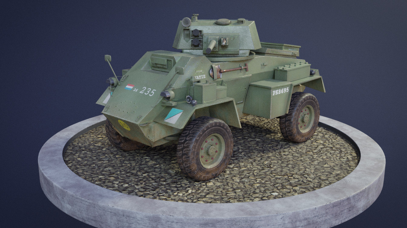 3D model humber armoured car modelling