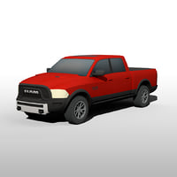 Low Poly Dodge Ram 1500 Rebel