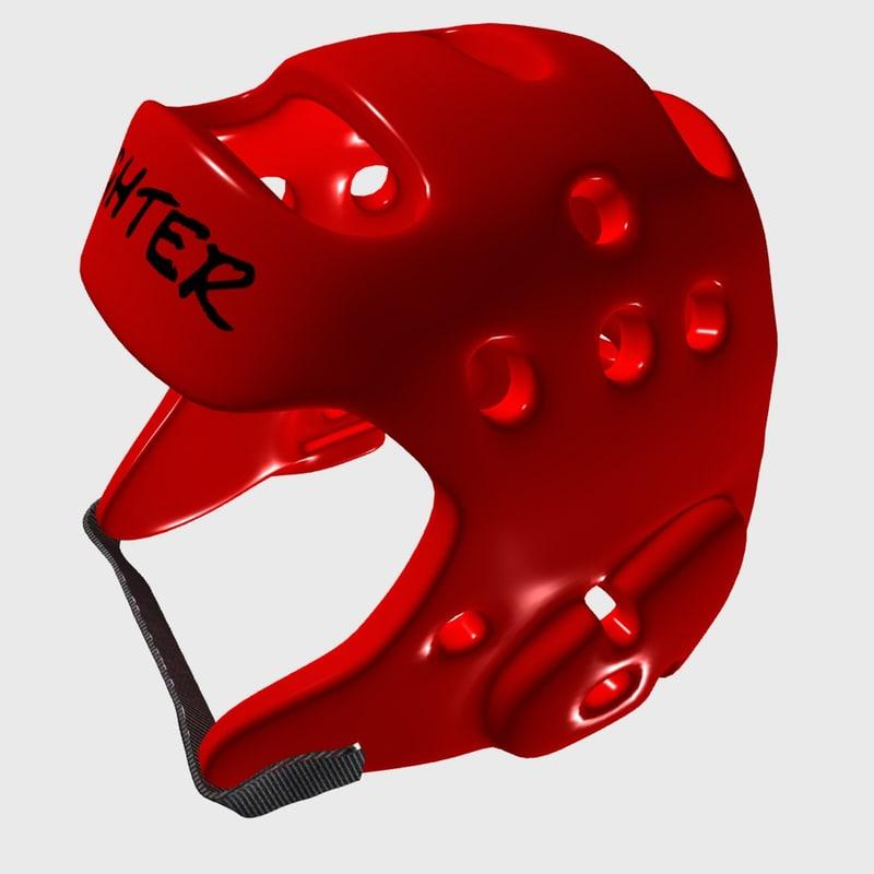 headgear martial arts 3D model