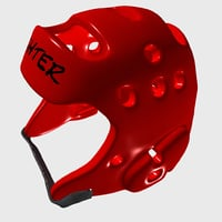 headgear martial arts 3D model