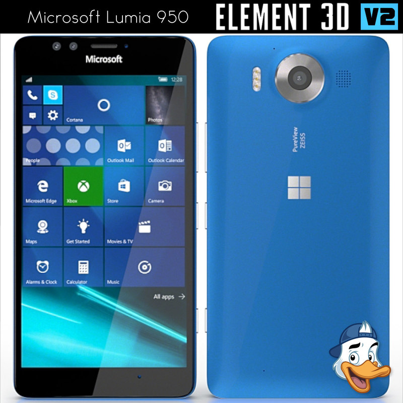 microsoft lumia 950 element 3D