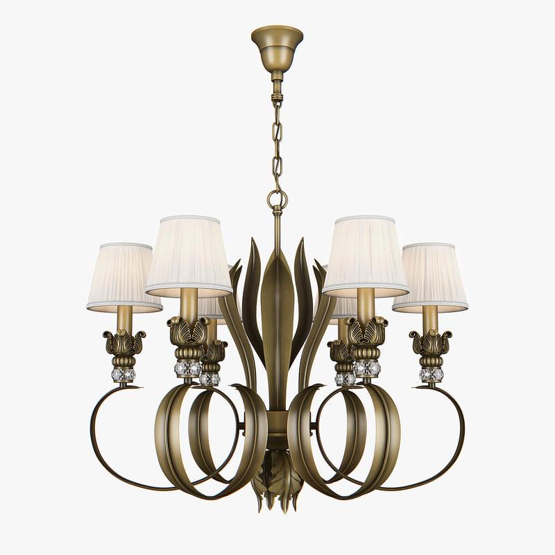 chandelier 783061 antiqua lightstar 3D