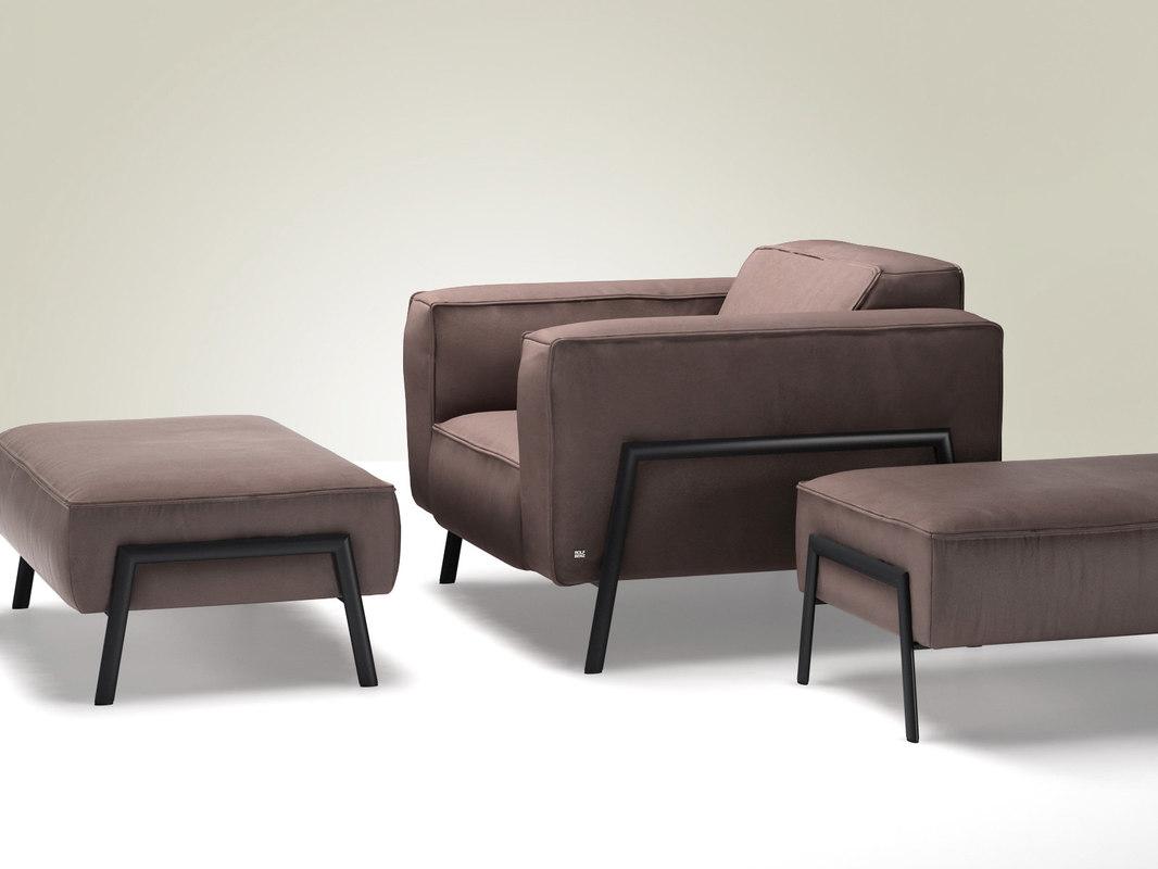 3D model bacio armchair