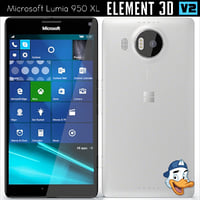 3D microsoft lumia 950 xl