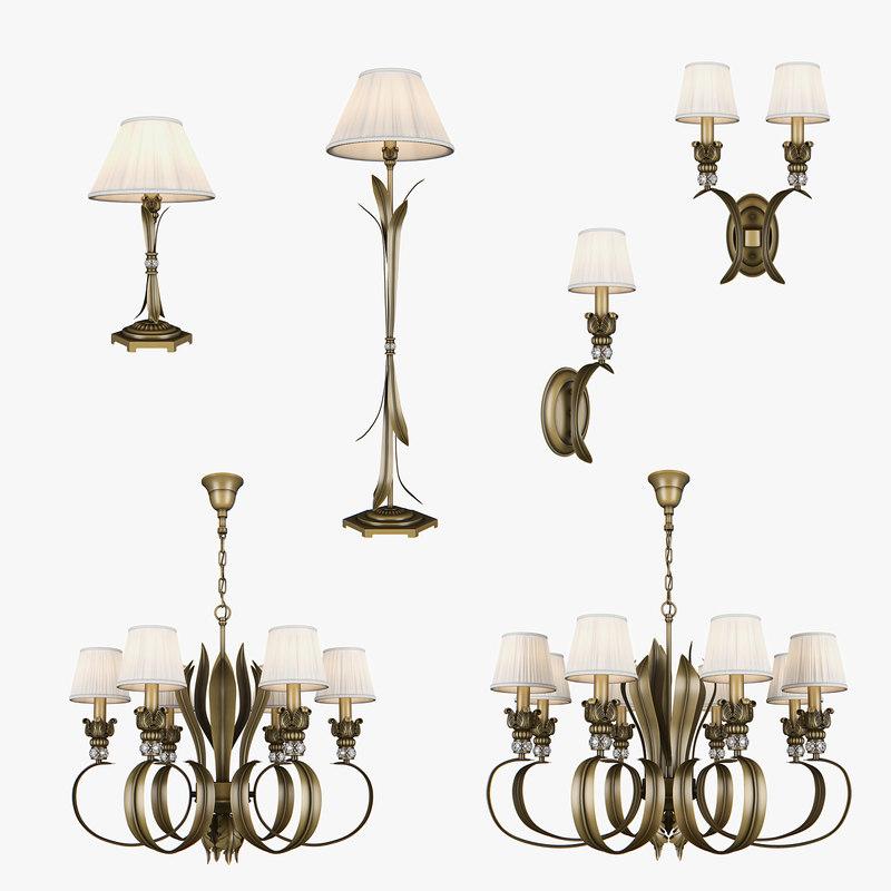 783 antiqua lightstar lamp 3D