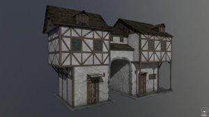 3D pbr medieval house b