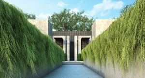 tree scatter 3D model