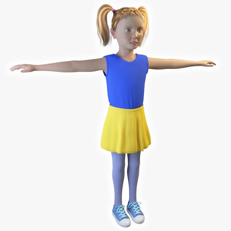 little girl 3D