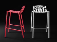 3D forest barstool model