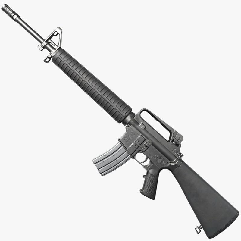 3D m16a2 asset weapon model