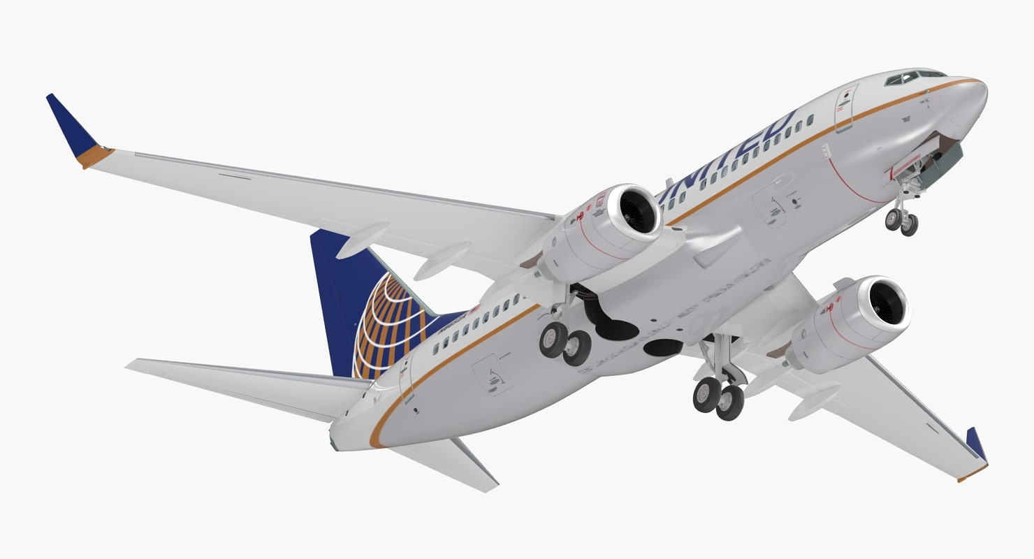 3D boeing 737-700 interior united airlines model