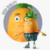 boy pineapple 3D