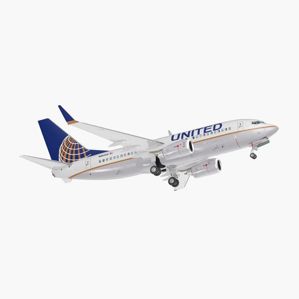 3D boeing 737-700 interior united airlines