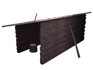 wood hutch model
