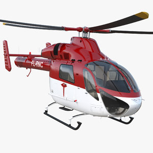 3D air ambulance helicopter md