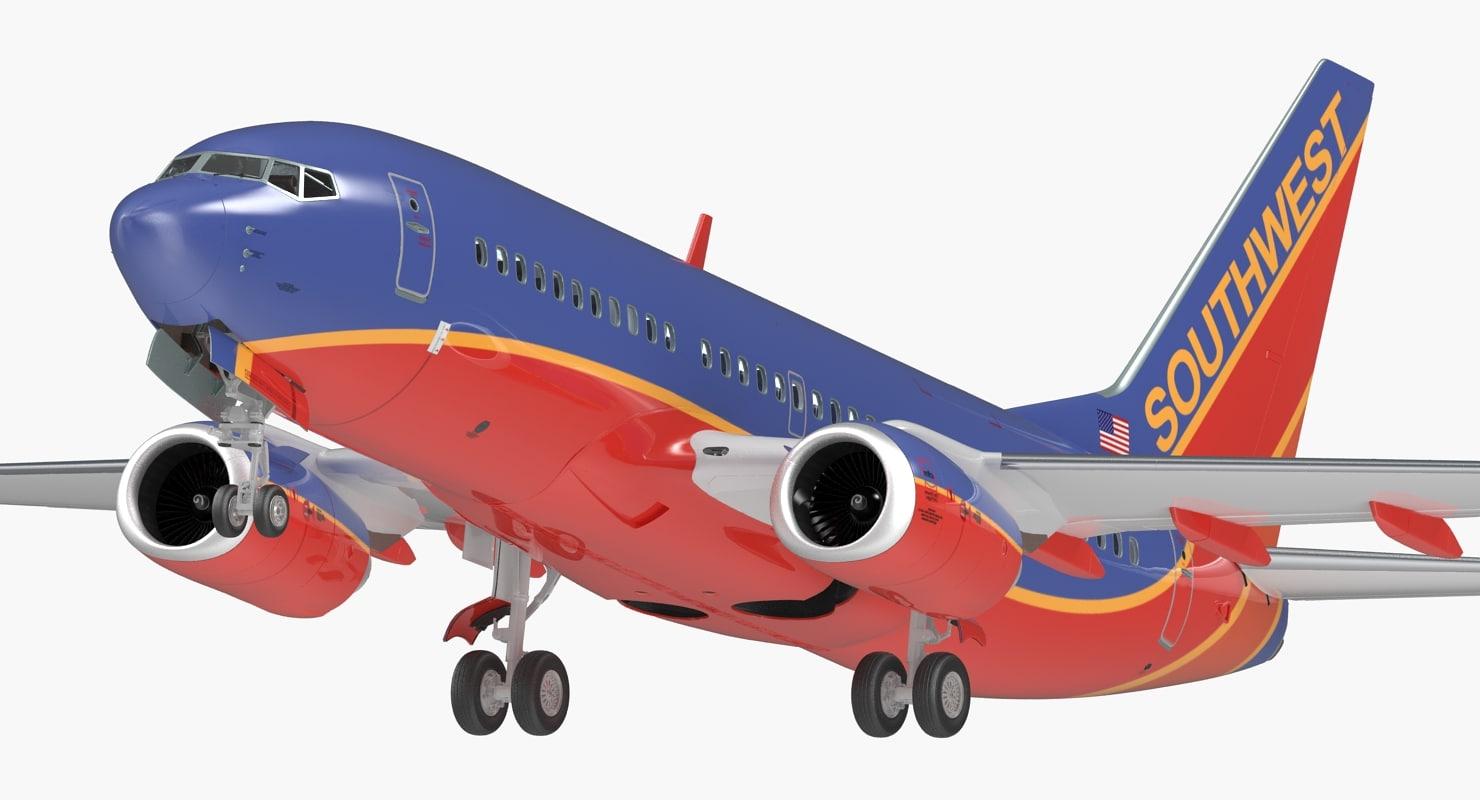 boeing 737-700 interior southwest 3D