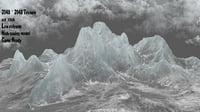 3D model snow mountain