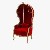 Fabulous & Baroque's Victoire Balloon Chair - Gold & Fuchsia Fatale