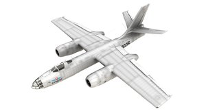 3D model ilyushin il-28 beagle aeroflot