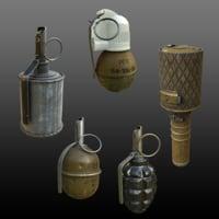 grenades pbr 3D