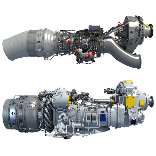 3D turboprop engine model