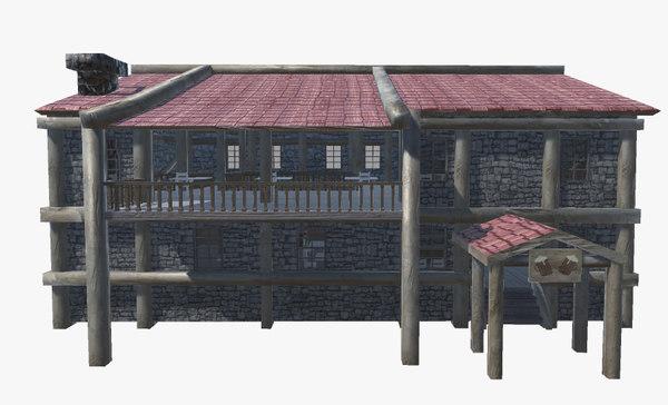 3D model medieval tavern