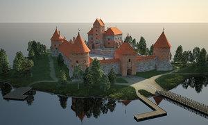island castle 3D model