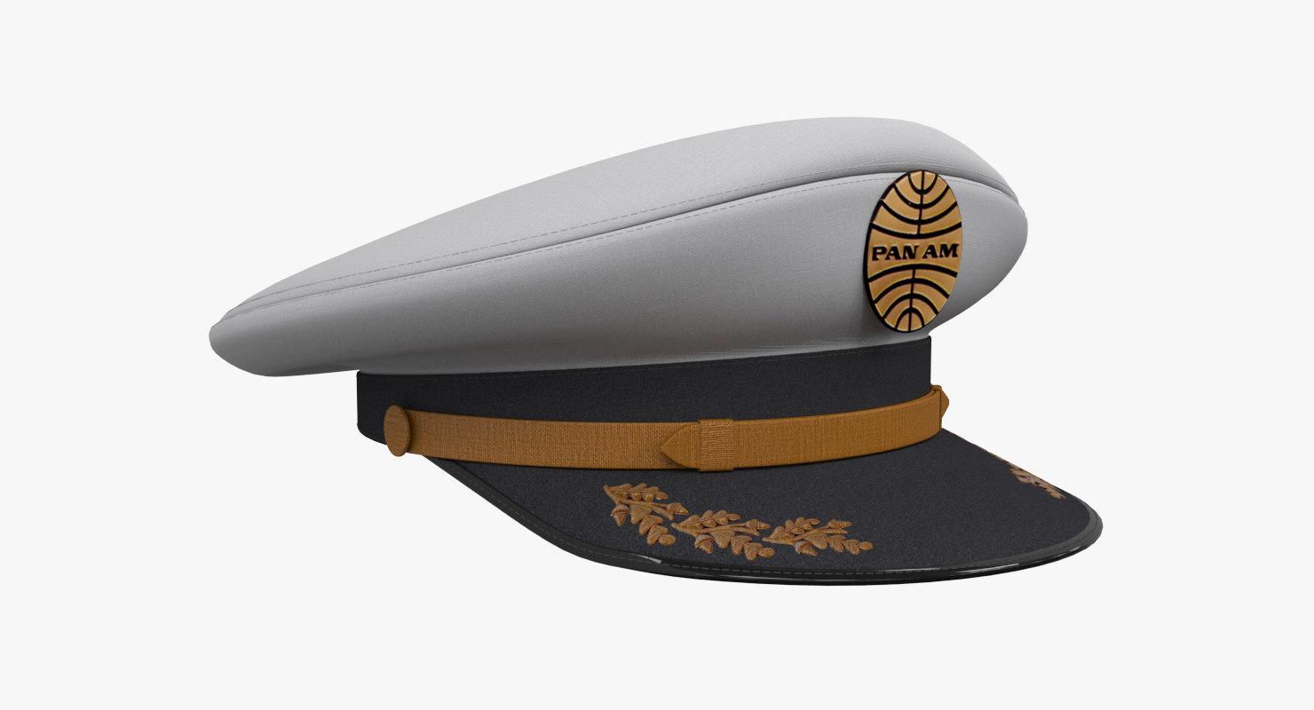 ba432071e2d2c 3D captain hat model - TurboSquid 1175115