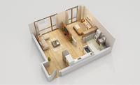 3D model floor plan