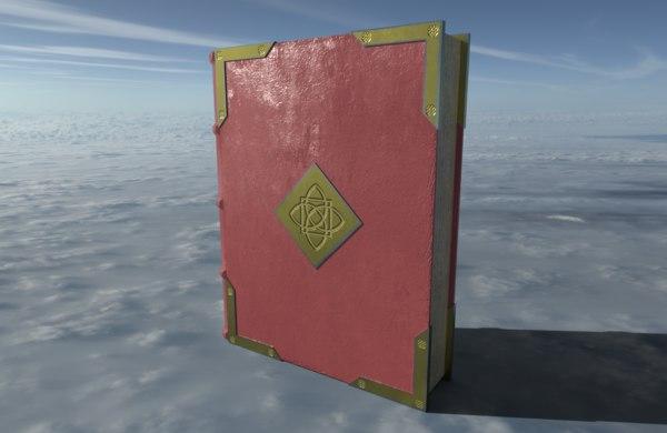book medieval 3D model