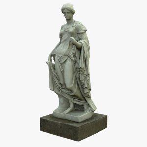 3D statue farnese flora