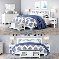 Pottery Barn Clara Lattice White Bedroom set