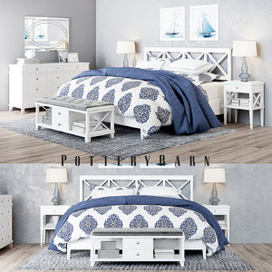 set pottery barn clara 3D