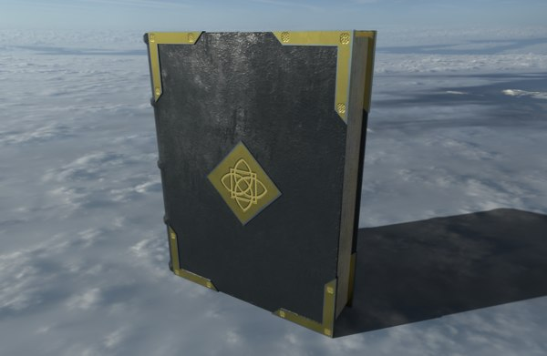 3D medieval book