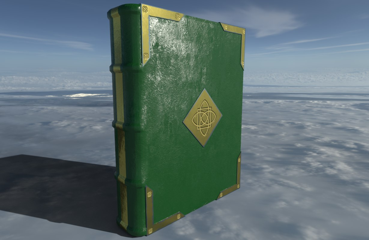 medieval book 3D