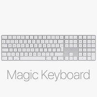 apple magic keyboard numeric 3D model
