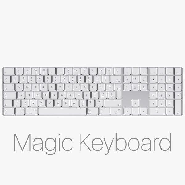 apple magic keyboard numeric 3D model