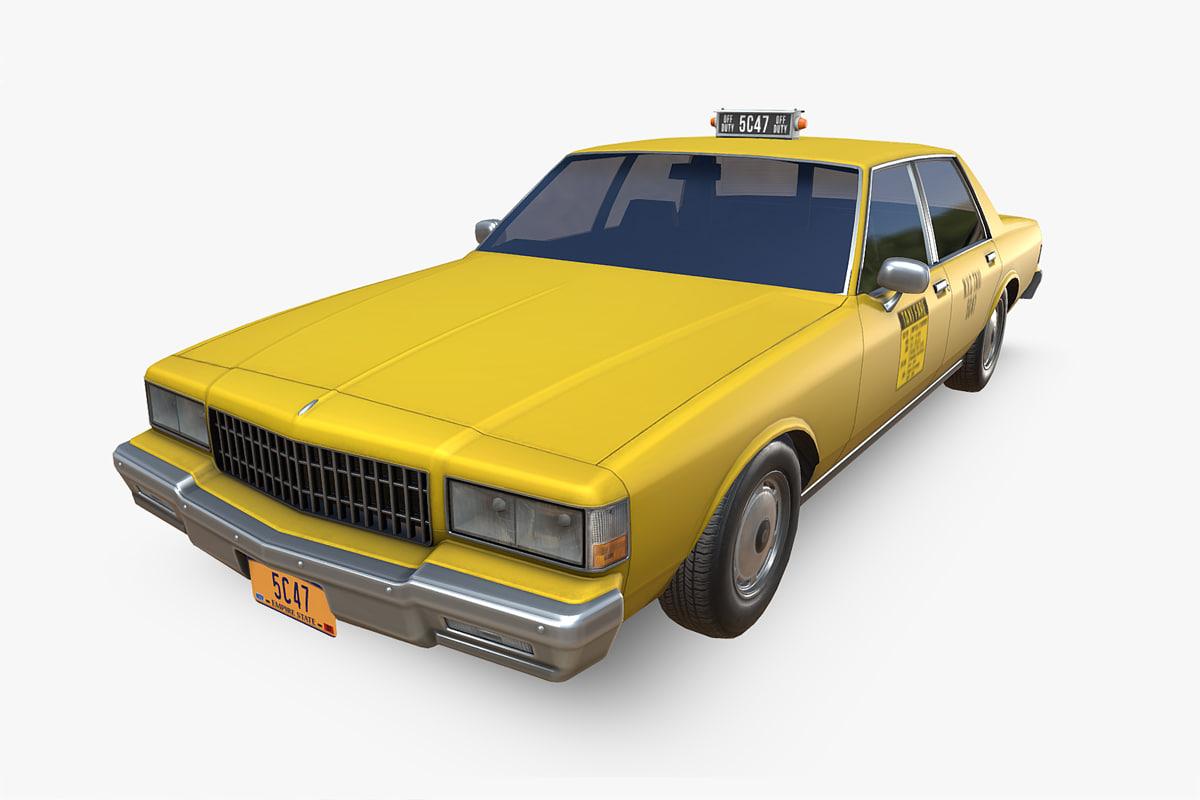3D model chevrolet caprice taxi