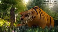 tiger ready 3D model