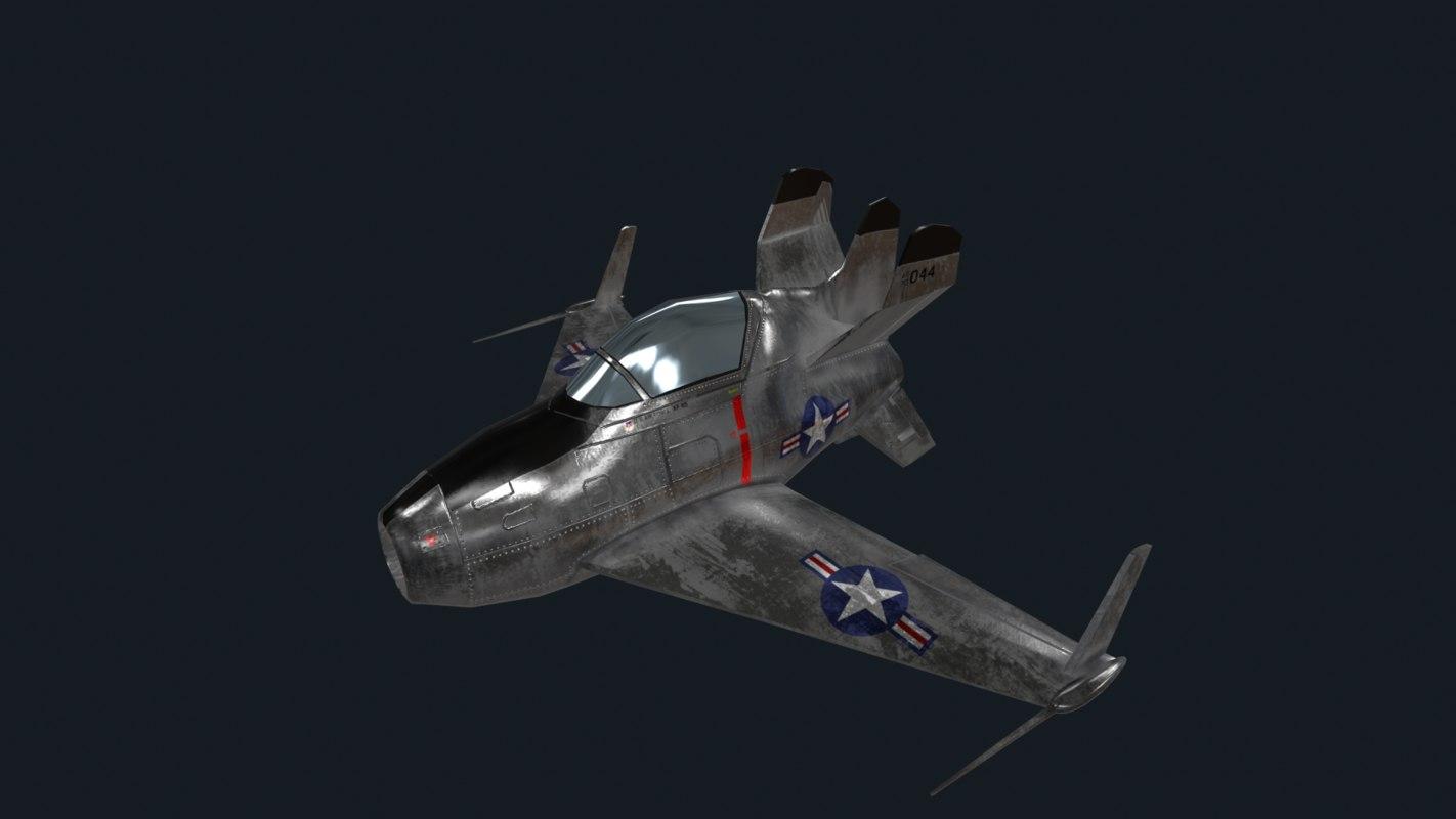 mcdonnell goblin jet 3D model