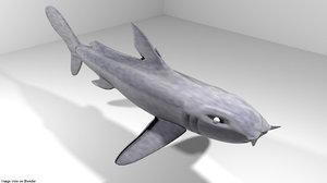 3D bullshark shark