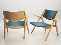 3D model ch28 sawhorse easy chair