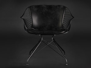 3D model wire lounge chair