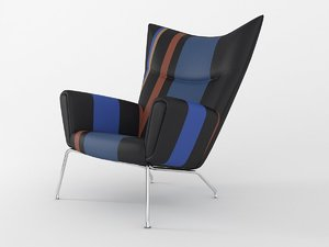 ch445 wing chair 3D model